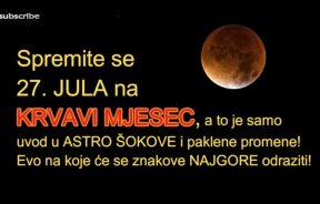 Sepktakl na nebu- najduža pomrčina Mjeseca