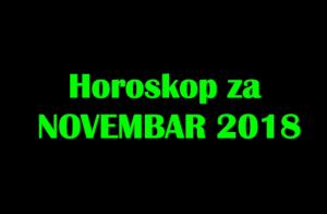 Horoskop za Novembar 2018