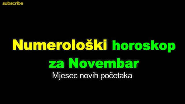 Numerološki horoskop za Novembar
